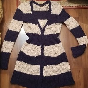 Free People Striped Cardigan
